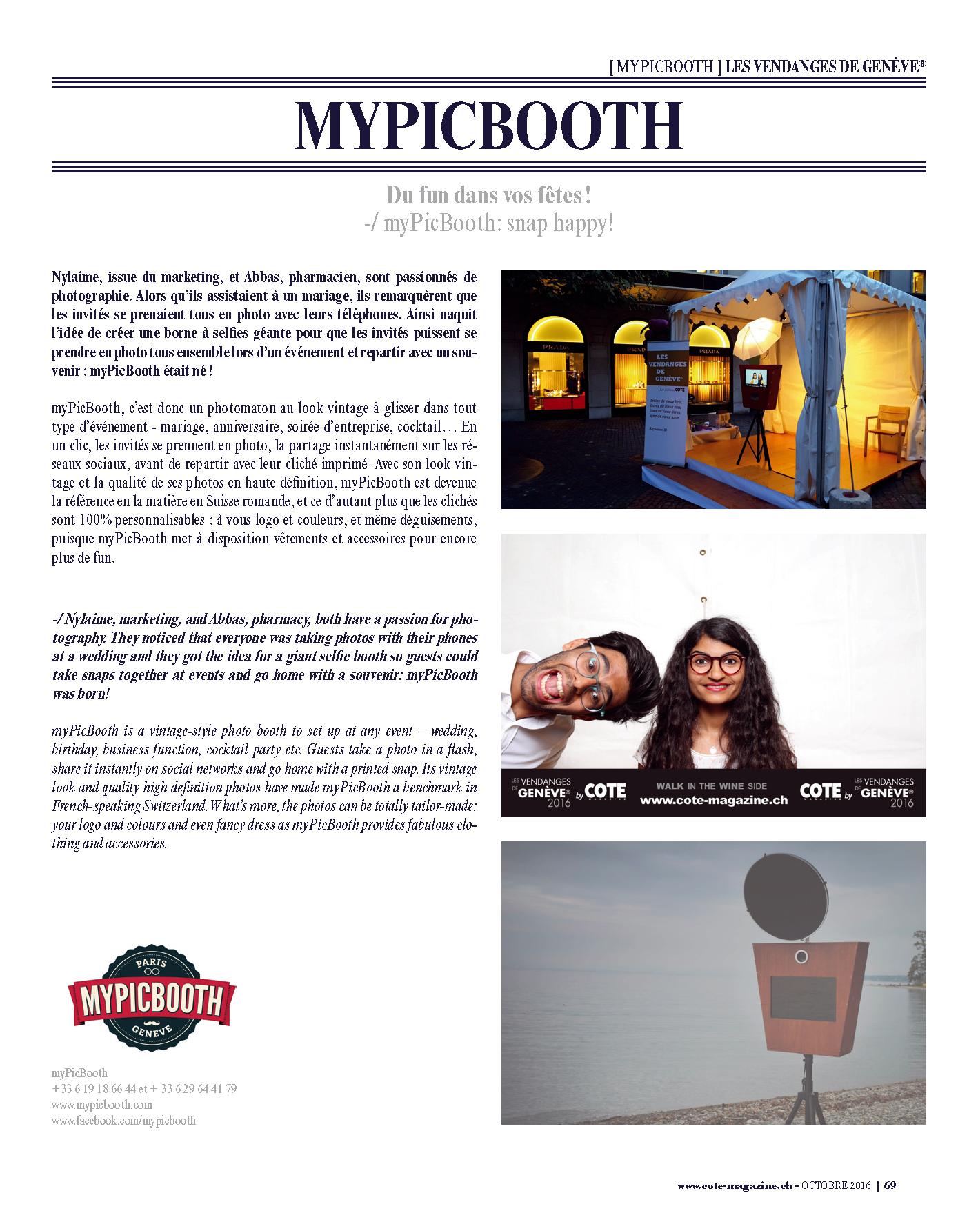 Cote Magazine - myPicBooth